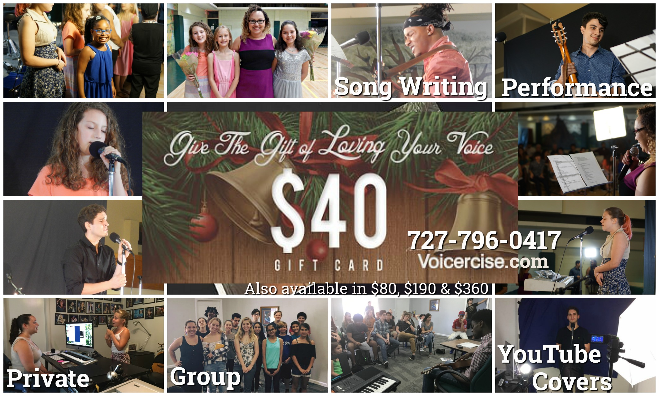 Voice Lesson Gift Certificate Clearwater Tampa St Pete